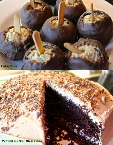 peanutbutter cake and pops